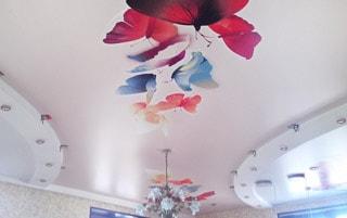 Матовый натяжной<br /> потолок в ванную S=2,9м2